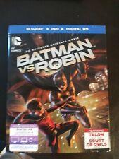 Batman vs. Robin (Blu-ray/DVD, 2015, 2-Disc Set, Includes Digital Copy UltraVio…
