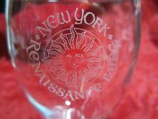 New York Renaissance Faire Wine Glass Goblet NY Festival Fair Souvenir