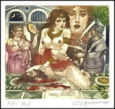 David Bekker 2001 Exlibris C4 Mythology Salome Erotic Nude Woman 774