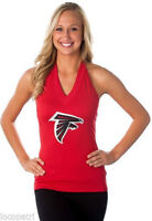 All Sport Couture Womens NFL Atlanta Falcons Blown Coverage Halter Top Shirt NWT