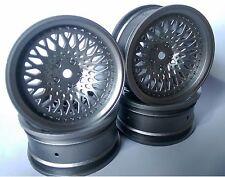 Rc Car 1/10 Drift FM Spoke Rim Wheel 6mm Offset fit Tamiya HPI 12mm hex SILVER