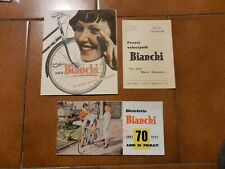 Bicicletta Bianchi Pubblicità / Lista Prezzi Vintage