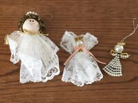 Vintage Hand Crafted Set of Three Angels-OOAK Collectible