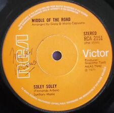 """Middle Of The Road - Soley Soley - 1971 RCA 2151 - 70s Pop/Rock/Glam 7"""" Vinyl"""