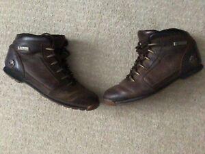 Men's Brown Leather Timberland Walking Hiking Boots Vintage UK 10 EUR 45 US 11