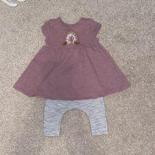 Next Baby Girl Newborn Dress & Legging Set