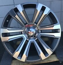 24'' GMC Sierra Wheels Tires Chevy Grey Machine Silverado Yukon Denali Suburban