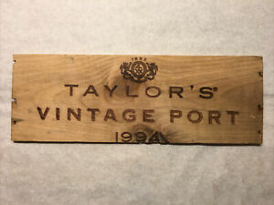 1 Rare Wood Panel Taylor's Vintage Port 1985 CRATE BOX SIDE 2//18 182