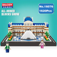 Building Blocks Architecture Paris Louvre Model Toys Gifts DIY Museum 1620PCS