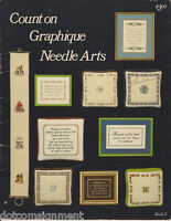 Graphique Count On Needle Arts 27 Pgs Book 2 for Counted Cross Stitch Vtg 1978