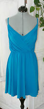 Victoria's Secret Moda ~ Aqua Blue Ruched Swing Skirt Clubwear Dress XS NEW