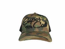 NEW SUPER CALI REPUBLIC WOODLAND CAMO/BLACK TRUCKER HAT