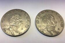 SET OF 2 Mexican Coins 1970-1977 Cinco Pesos