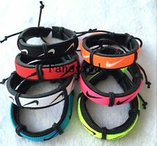 Wholesale lots 30pcs Mixed Color Sports Cuff Ethnic Tribal Leather Bracelets NK