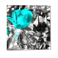 Canvas Wall Art Teal Rose Flowers Sun Pictures Wall Decor Prints Painting Framed
