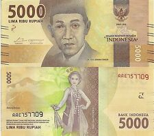 INDONESIA 5000 Rupiah Banknote World Paper Money UNC Currency Pick p-NEW 2016