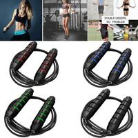 Adjustable Boxing Skipping Rope Gym Weighted Jump Adult Speed Ropes Kids Fi Top