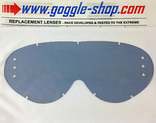 GOGGLE-SHOP DRILLED ROLL-OFF LENS SMOKE to fit RNR HYBRID MOTOCROSS MX GOGGLES