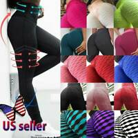 Women Compression Fitness Leggings Running Yoga Gym Scrunch Workout Active Pants