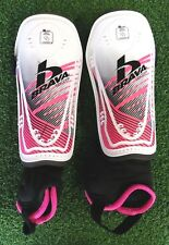 """Brava Soccer Kids Pro Shin Guards Pre-Owned Small Fits Height 4'7""""-5'3&# 034; Pink"""