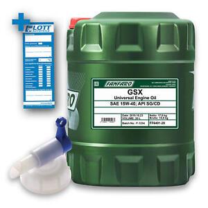 20L Fanfaro GSX Universal Motoröl API SG/CD 15W-40 Benzin Diesel 15W40 + Hahn