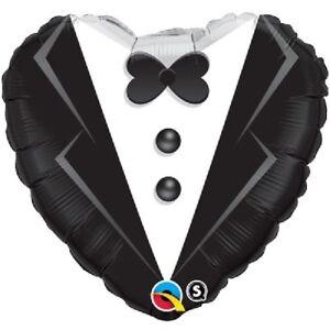 "Groom Tuxedo Heart 18"" Party Foil Balloon Decoration Wedding Love   Qualatex"