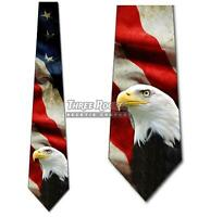 Flag and Eagle Neckties Mens American Patriotic Tie Memorial Day Ties NWT