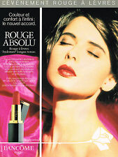 PUBLICITE ADVERTISING 094  1991  LANCOME rouge à lèvres ROUGE ABSOLU I.ROSSELLIN