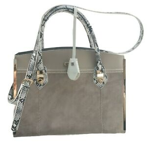 River Island tote Bag grey faux snake print Large everyday