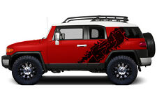 Vinyl Graphics Decal Wrap for 2007-14 Toyota FJ Cruiser Side Graphic MATTE BLACK