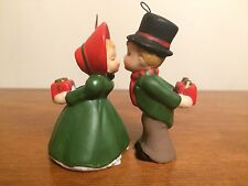 Enesco Kissing Couple Ornaments, With Christmas Presents Behind Back