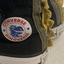 CONVERSE DINOVERSE High Top Sneakers Toddler US 6, UK 6, EUR 22 Black Green VGUC