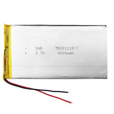 3.7 v 8000 Mah 7565121 Li Po de Polímero de Litio Ion Battery Para Tablet Pc Power Bank De Pad