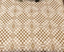 New Primitive Colonial Cream Mustard Lover'S Knot Coverlet Bedspread Cover King