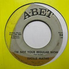 northern soul funk 45 LUCILLE MATHIS I'm Not Your Regular Woman A-BET hear RARE