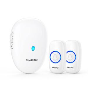 SINGCALL Wireless Doorbell Door Bell Wireless 1 Receiver 2 Doorbell Buttons