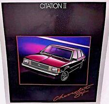 Vintage Chevrolet Citation II 1984 Car Brochure Catalog Hatchback Sedan X-11