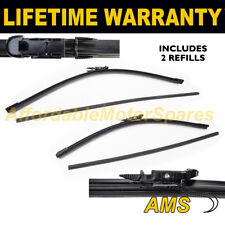 "FRONT AERO WINDSCREEN WIPER BLADES PAIR 22"" + 19"" FOR FIAT STILO 2006 ON"