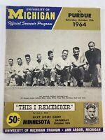 Michigan Wolverines vs Purdue Boilermakers 1964 Football Program