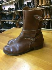 vtg antique 1940s leather ankle womens girl shoes boots sz 5?