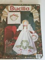 """Stamped Embroidery Doll Kit NICOLE Bucilla 83105 14"""" Tall 1993 Sealed"""