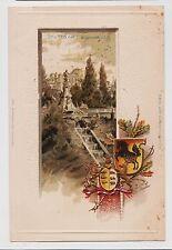 Stuttgart,Germany,Eugensbrunnen,Embossed,Wappen,Baden-Wurttemberg,c.1901-06