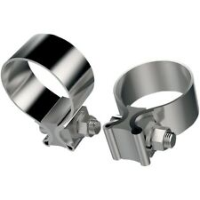 1.75 inch Stainless Steel Exhaust Clamp For Harley Davidson (Pair)