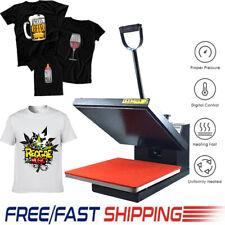 "Clamshell Heat Press Machine Transfer Digital 15x15"" for DIY T-Shirt X'mas Gifts"