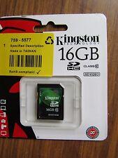 KINGSTON 16GB Scheda SDHC-Scheda di memoria-CLASSE 10-P2 7595577