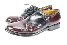Allen Edmonds Polo Mens 9.5 C  Dress Shoes Leather Saddle Oxfords Burgundy Black