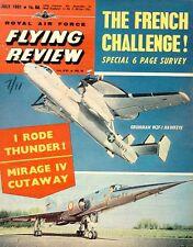 RAF FLYING REVIEW JUL 61 F8U EJECTION_WW2 He59B_W2F-1 HAWKEYE_MIRAGE IV_Hs126  V