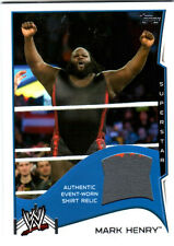 WWE Mark Henry 2014 Topps Event Used Shirt Relic Card Grey & Red
