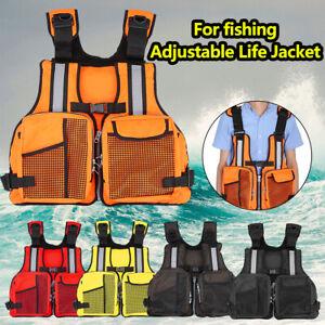 Outdoor Swimming Kayak Sailing Lifesaving Vest Life Jacket Adult Adjustable