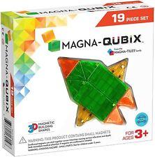 Magna-Qubix 18019 19 Piece Multicolor Set Magnetic 3D Building Shapes Ages 3+